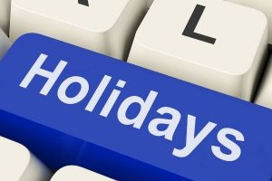HOLIDAY BREAK WILL BE FROM DECEMBER 19 - JANUARY 3