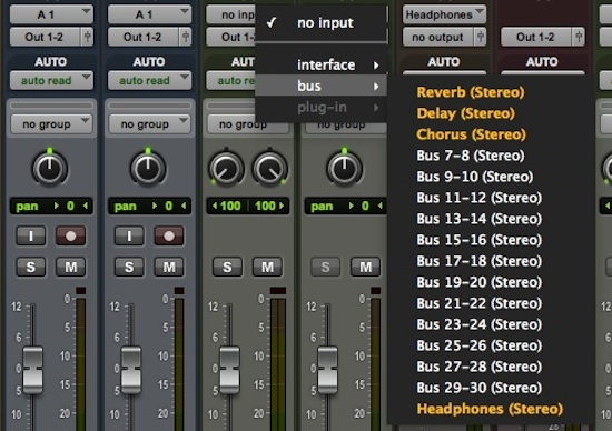 SENDS, AUX TRACKS AND BUSSES - THE SHORTCUT KEYS TO SPEED UP YOUR ROUTING