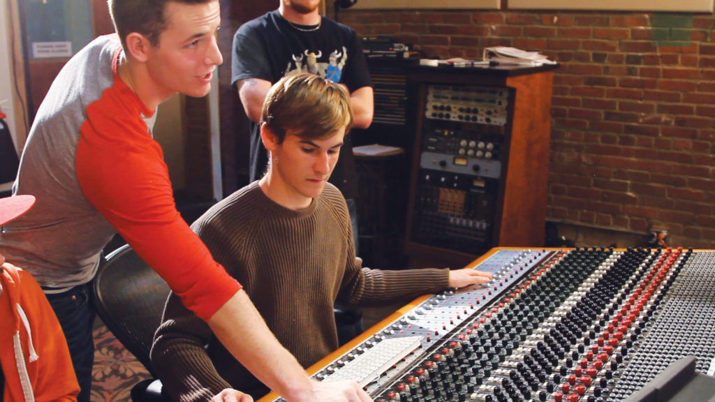 Audio Engineering Students at SSL